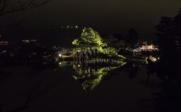 Kanazawa park during the night