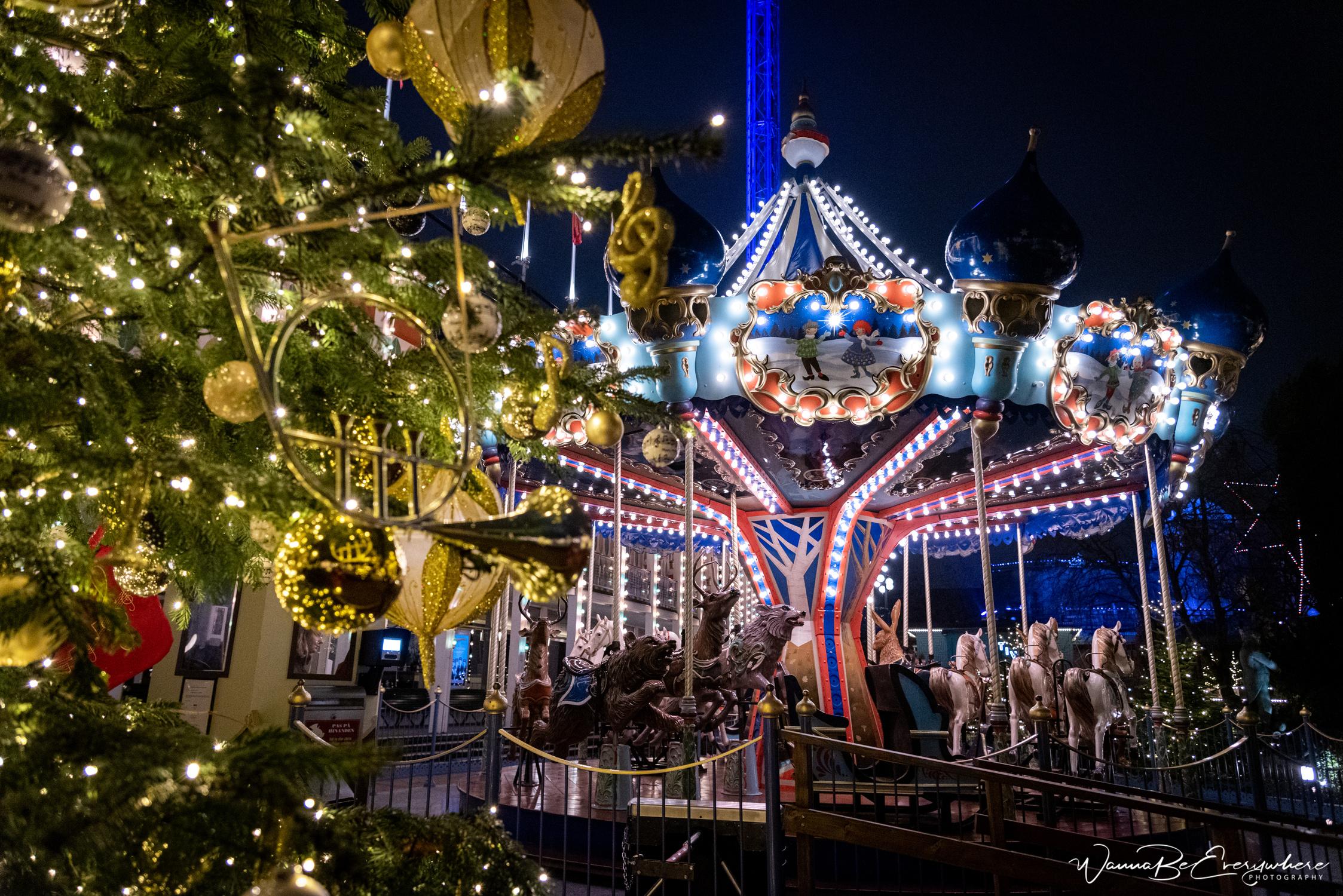 Tivoli during Christmas, Denmark